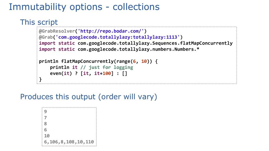 Immutability options - collections This script ...