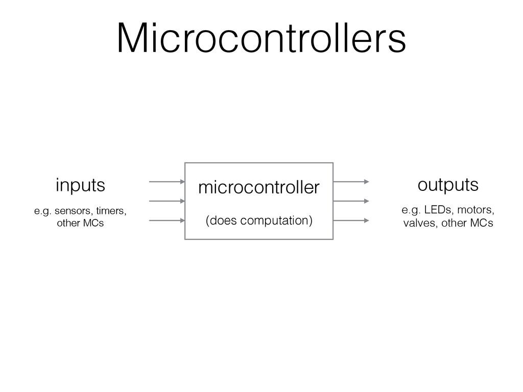 Microcontrollers inputs outputs e.g. sensors, t...