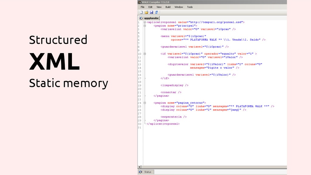 Structured XML Static memory
