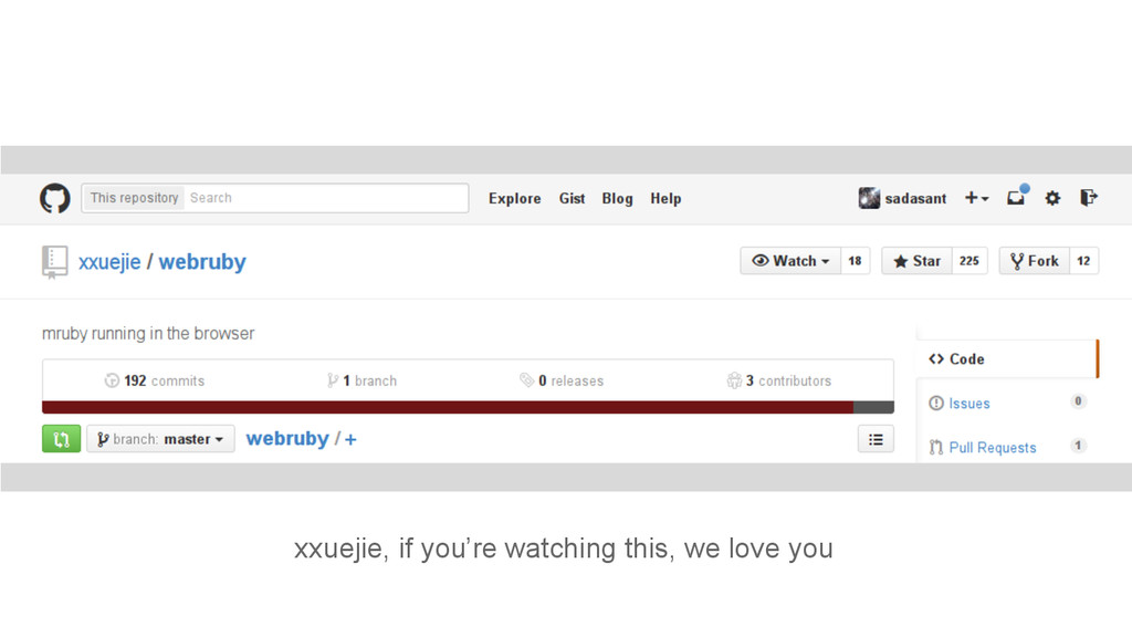 xxuejie, if you're watching this, we love you