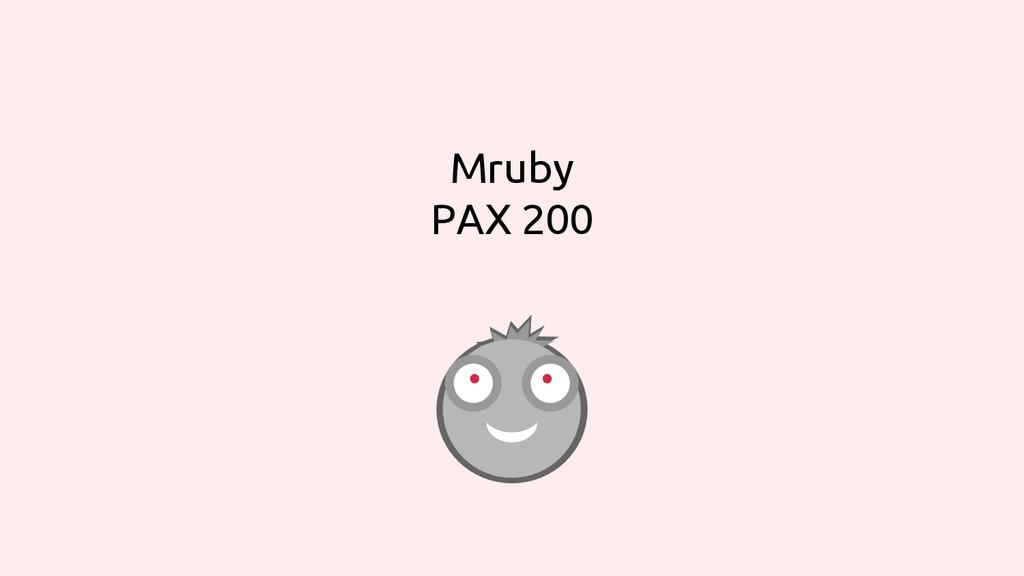 Mruby PAX 200