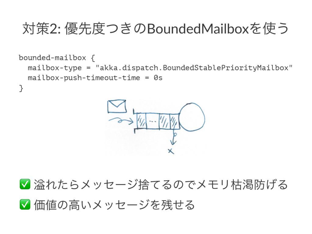 ରࡦ2: ༏ઌ͖ͭͷBoundedMailboxΛ͏ bounded-mailbox { ...