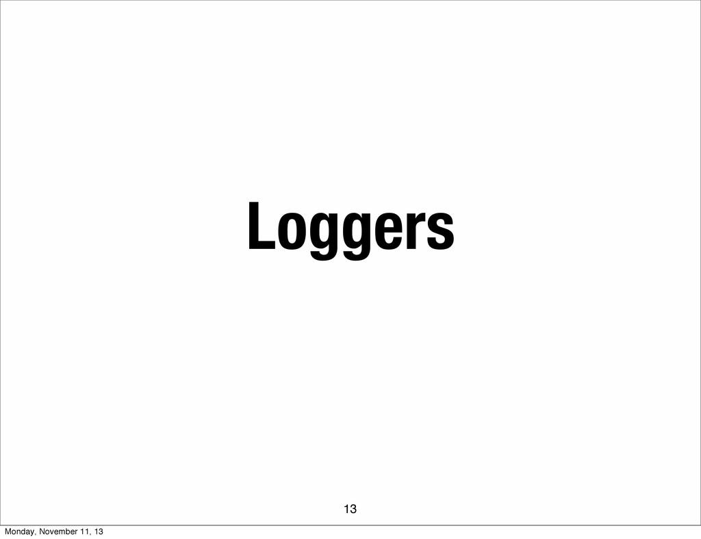 Loggers 13 Monday, November 11, 13