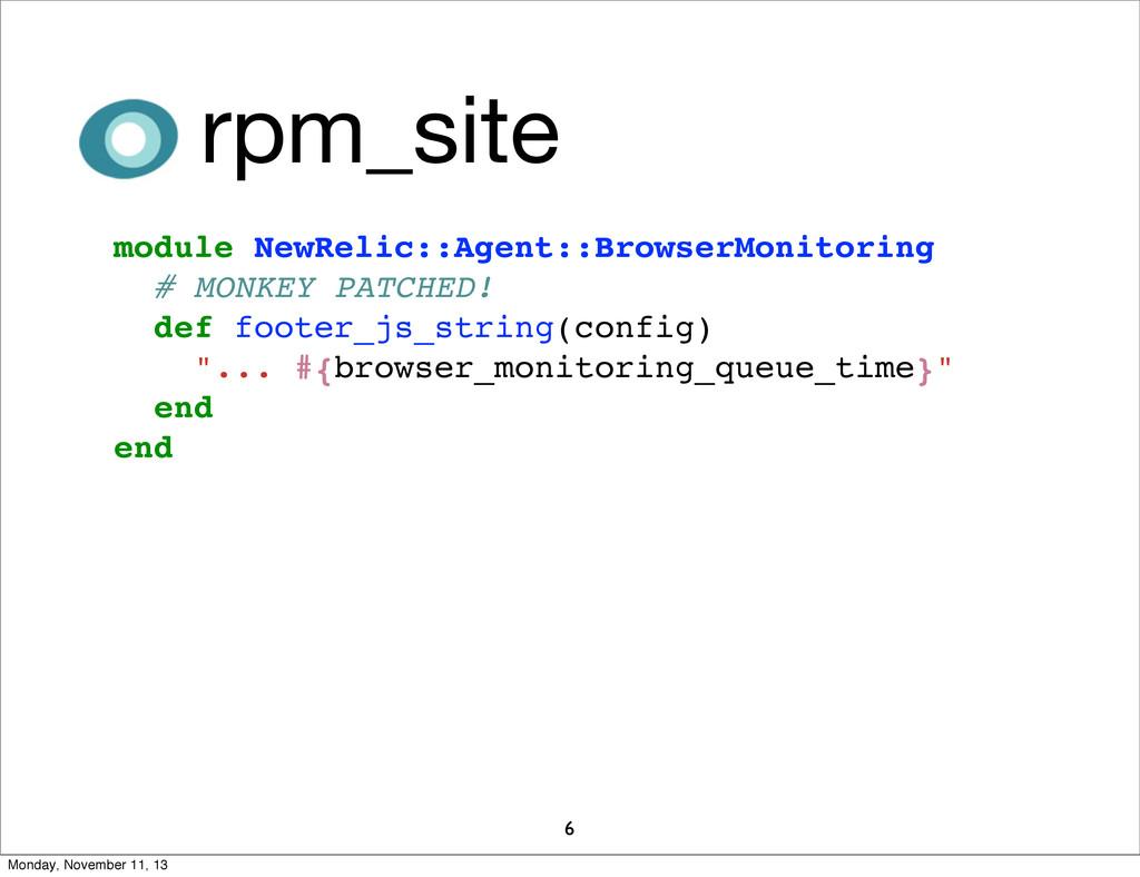 6 module NewRelic::Agent::BrowserMonitoring # M...