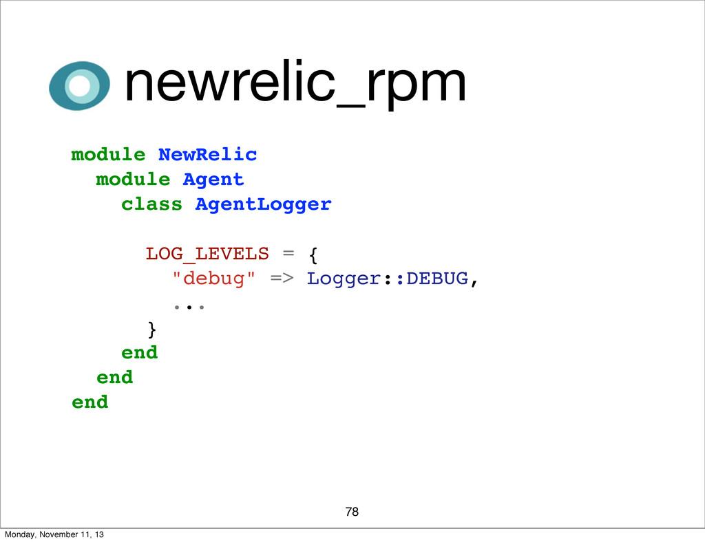 78 newrelic_rpm module NewRelic module Agent cl...