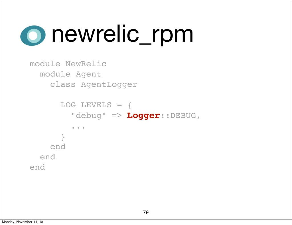 79 newrelic_rpm module NewRelic module Agent cl...