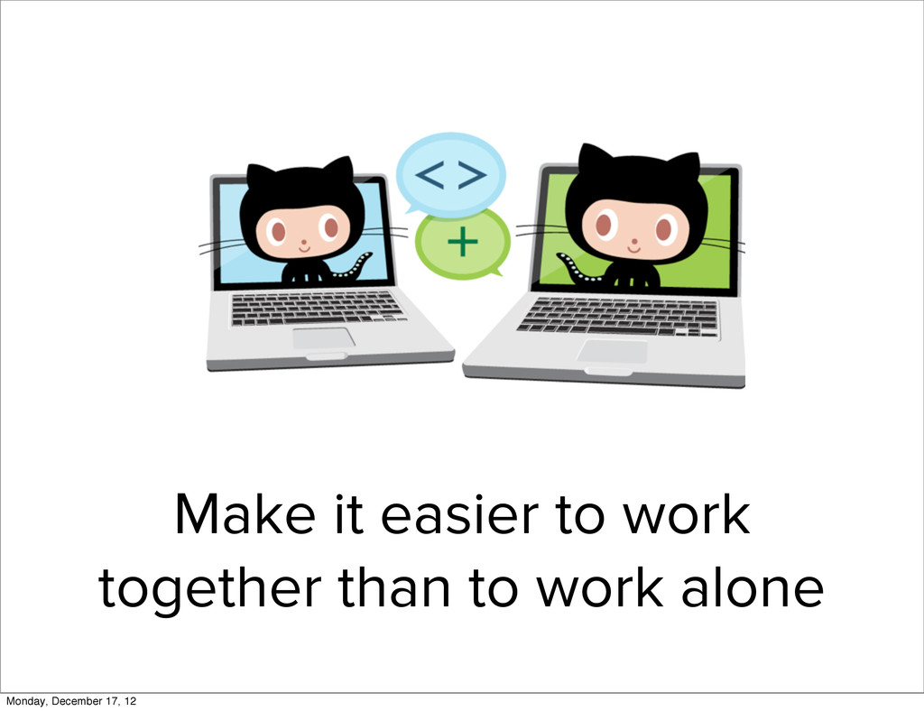 Make it easier to work together than to work al...