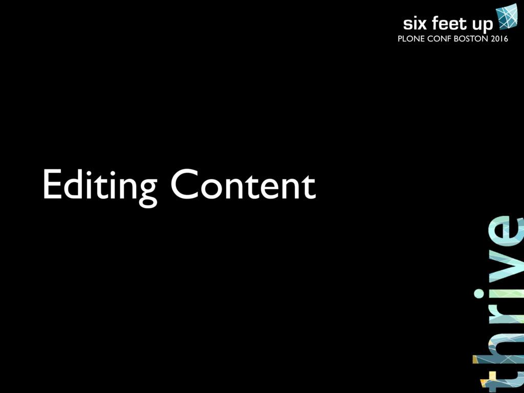 PLONE CONF BOSTON 2016 Editing Content