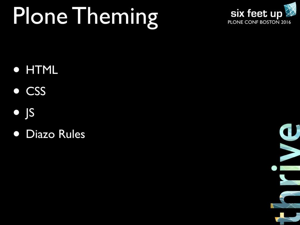 PLONE CONF BOSTON 2016 Plone Theming • HTML • C...