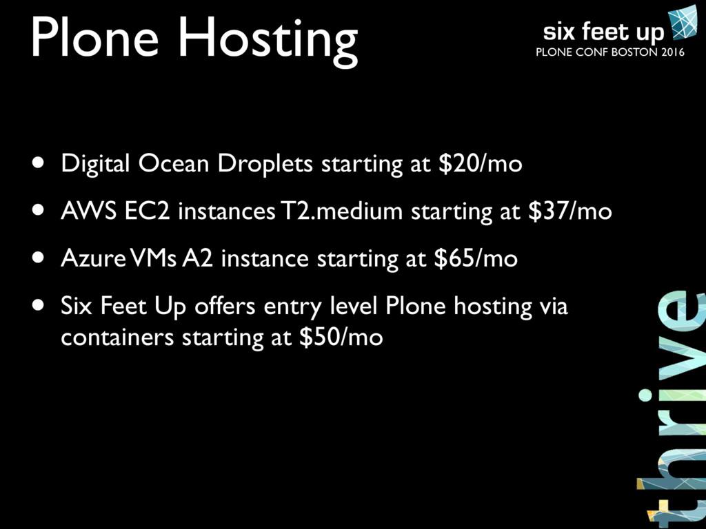 PLONE CONF BOSTON 2016 Plone Hosting • Digital ...