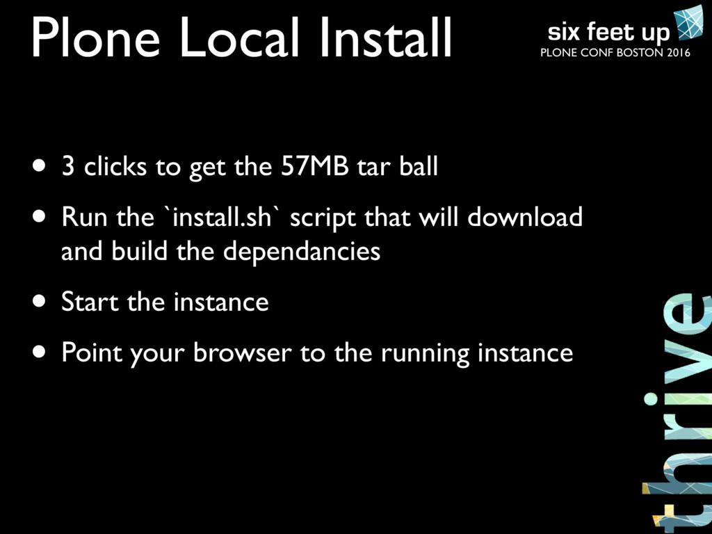 PLONE CONF BOSTON 2016 Plone Local Install • 3 ...