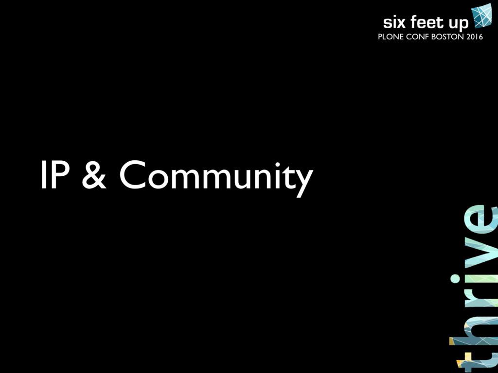 PLONE CONF BOSTON 2016 IP & Community