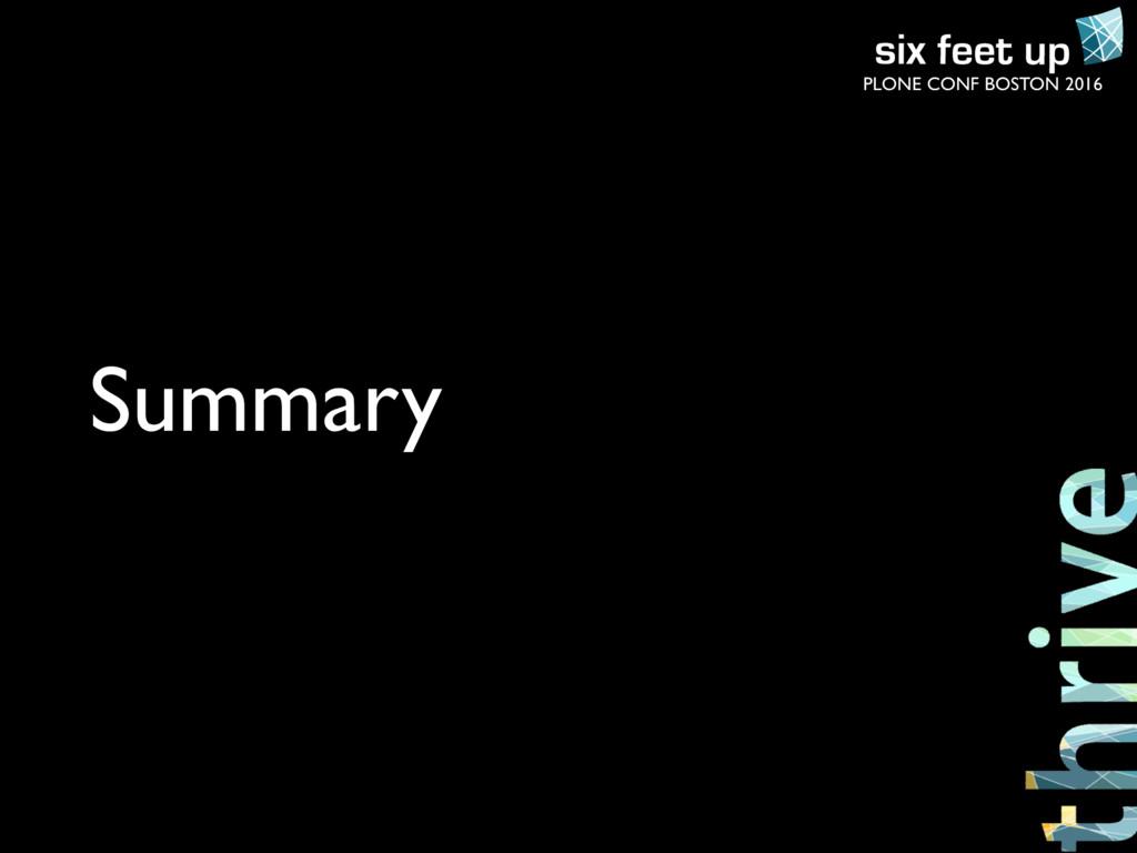 PLONE CONF BOSTON 2016 Summary