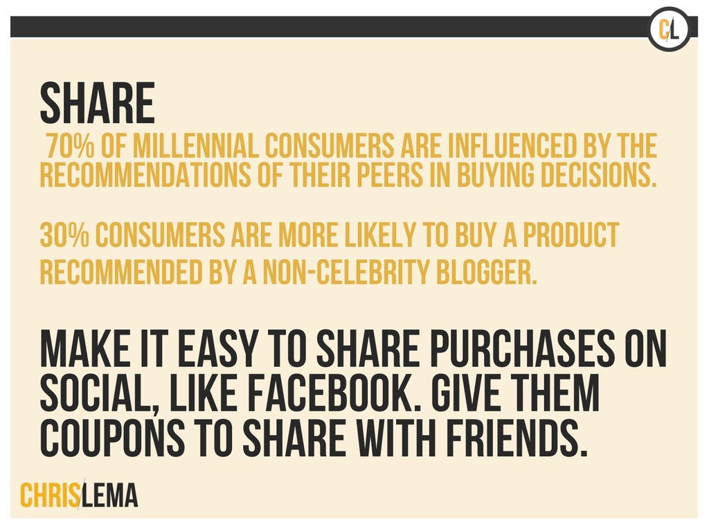 Share 70% of millennial consumers are influence...