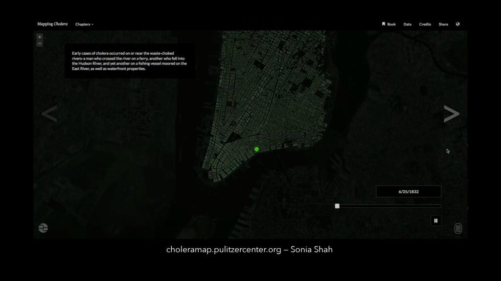choleramap.pulitzercenter.org — Sonia Shah