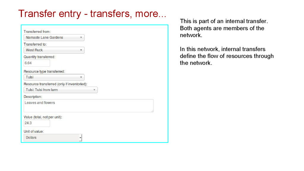 Transfer entry - transfers, more... This is par...
