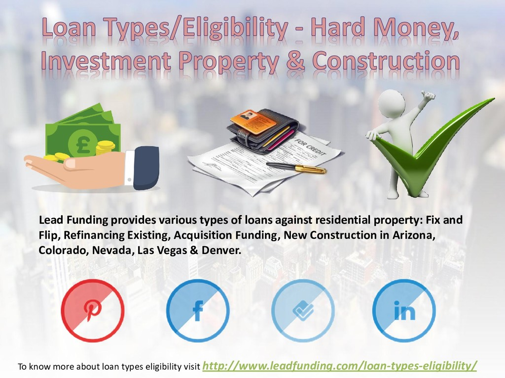 Lead Funding provides various types of loans ag...