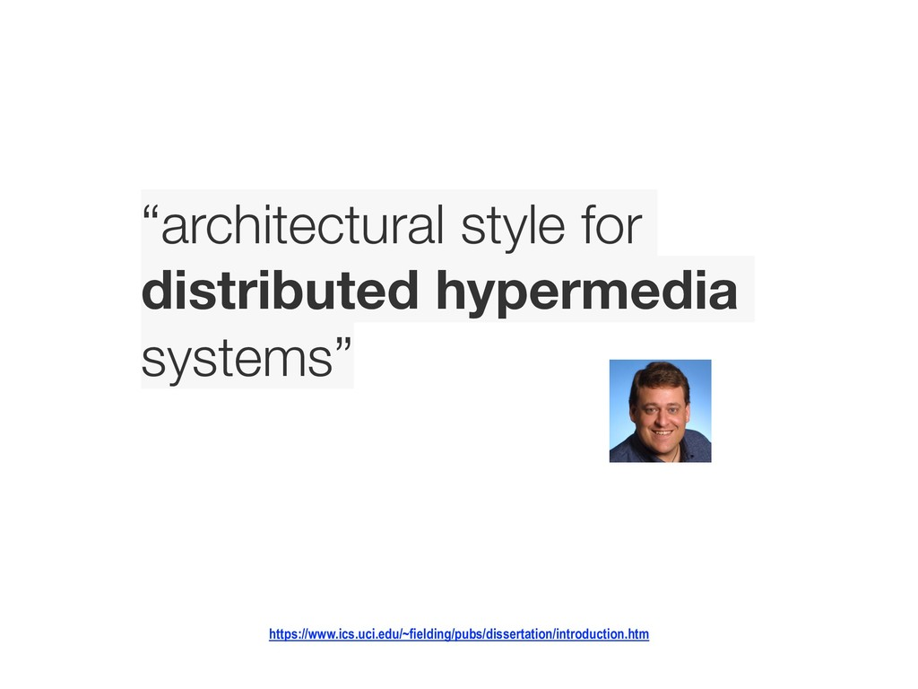 """architectural style for 