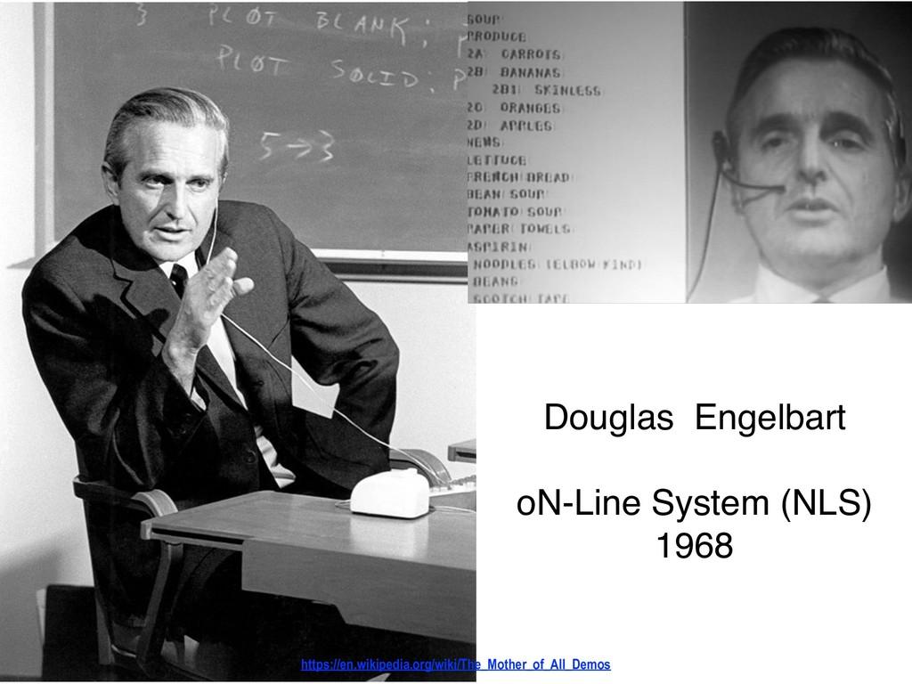 Douglas Engelbart oN-Line System (NLS) 1968 h...