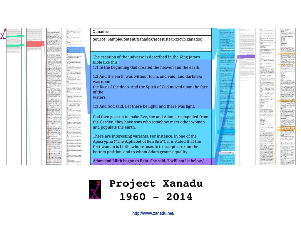 Project Xanadu 1960 - 2014 http://www.xanadu.n...