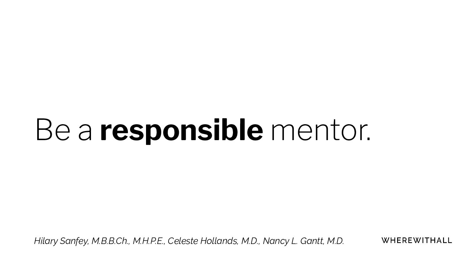 It's okay to end a mentor relationship Hilary S...