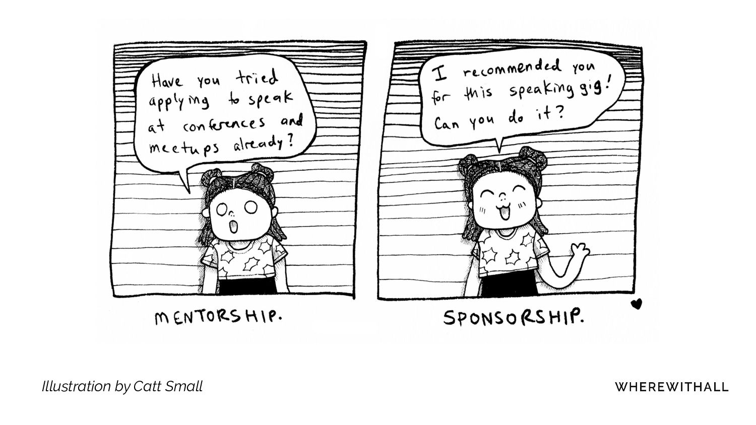 Mentors give perspective, sponsors give opportu...