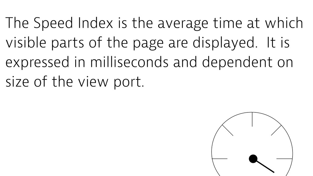 The Speed Index is the average time at which vi...