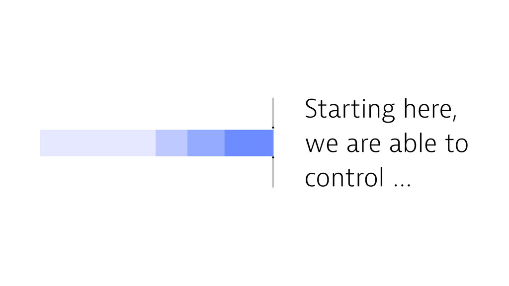 Starting here, we are able to control …