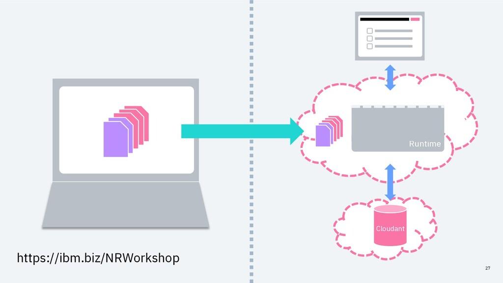 27 Runtime Cloudant https://ibm.biz/NRWorkshop