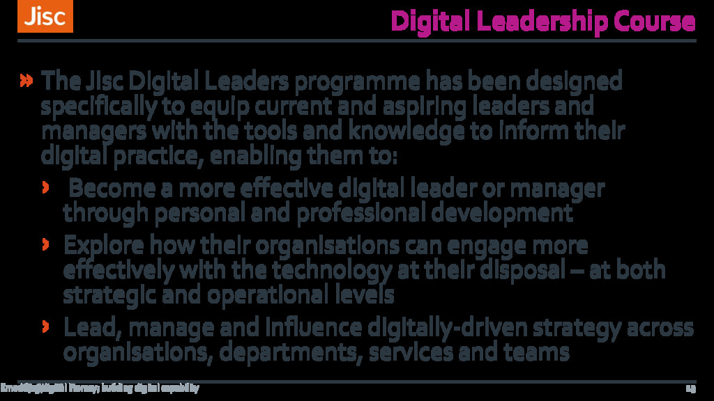 Digital Leadership Course » The Jisc Digital Le...