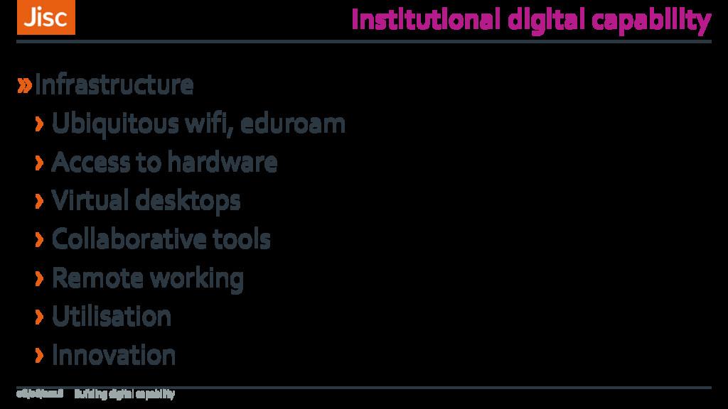 Institutional digital capability »Infrastructur...