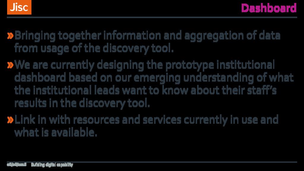 Dashboard »Bringing together information and ag...