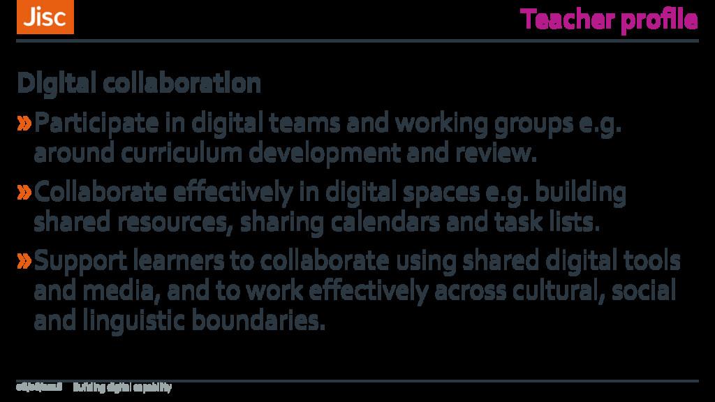 Teacher profile »Participate in digital teams a...