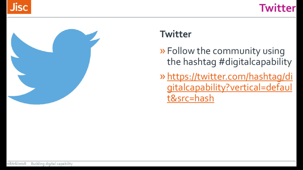 Twitter »Follow the community using the hashtag...