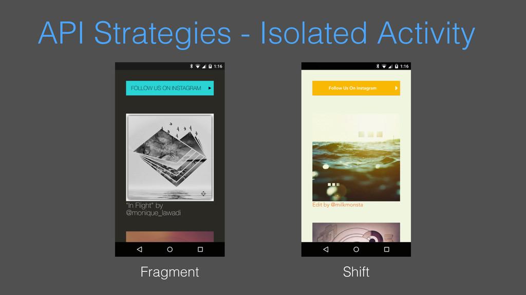 API Strategies - Isolated Activity Fragment Shi...