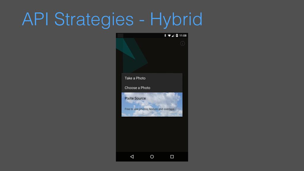 API Strategies - Hybrid