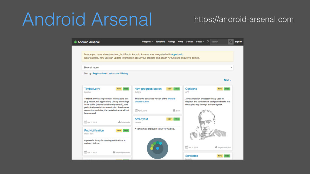 Android Arsenal https://android-arsenal.com