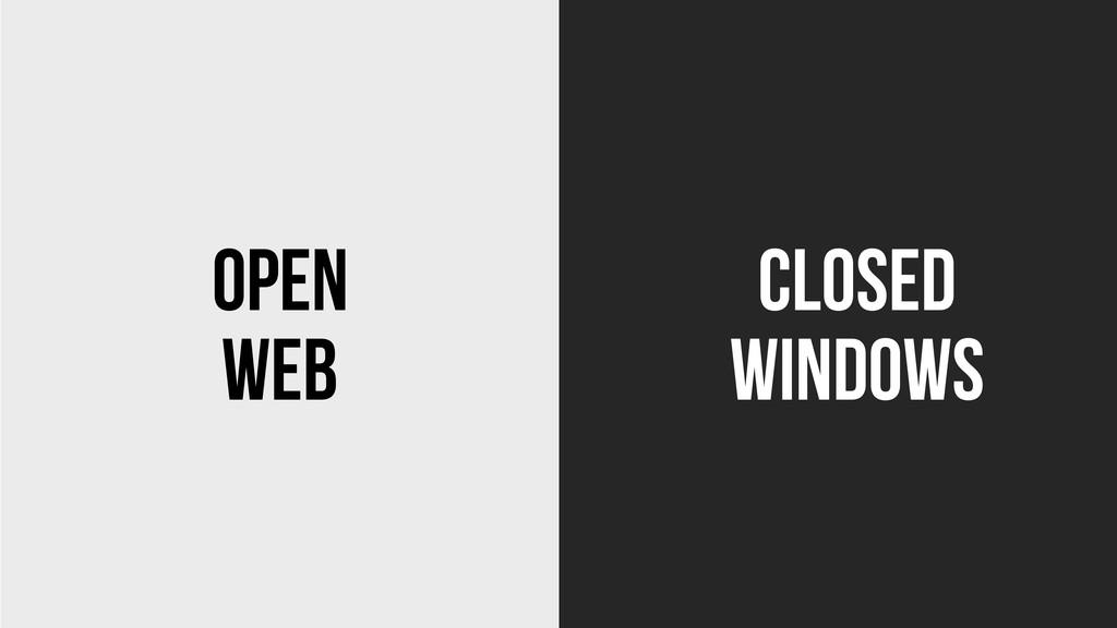 Web Windows Open Closed