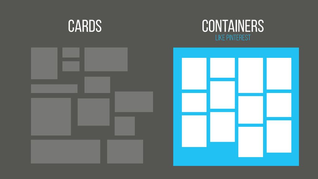 Cards Like Pinterest Containers