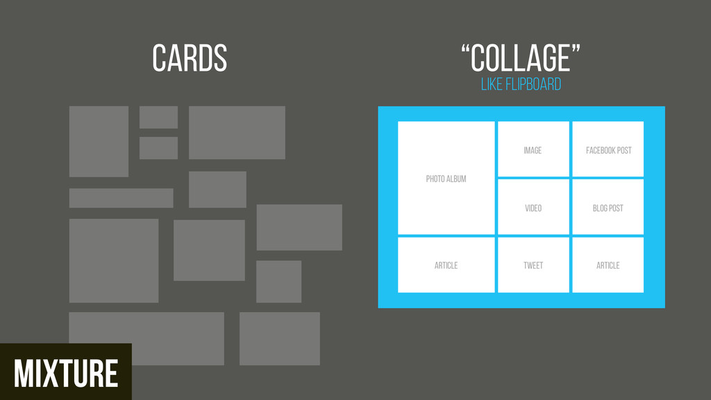 "Cards Like FlipBoard ""Collage"" Photo ALBUM ARTI..."