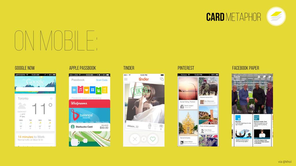 Cardmetaphor Google Now On Mobile: Apple Passbo...