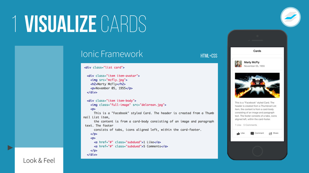 Visualize cards 1 Ionic Framework HTML+CSS Look...