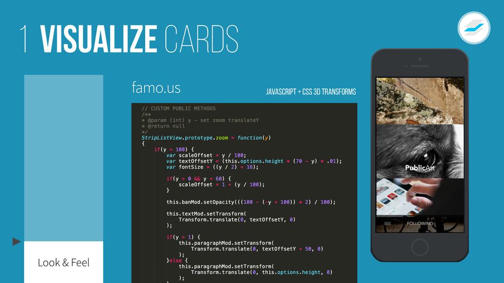 Visualize cards 1 famo.us JavaScript + CSS 3D T...