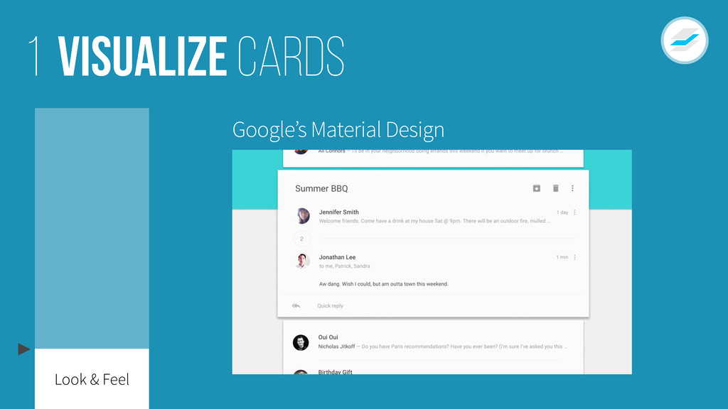 Visualize cards 1 Google's Material Design Look...