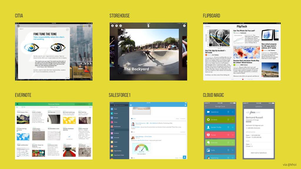Citia Storehouse Flipboard Evernote Salesforce1...