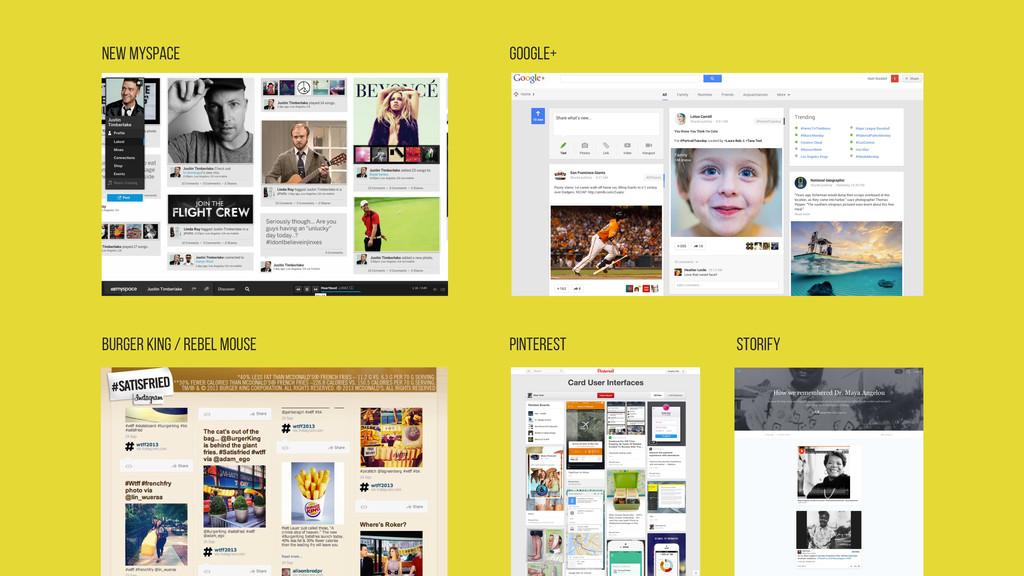 New MySpace Google+ Burger King / Rebel Mouse P...