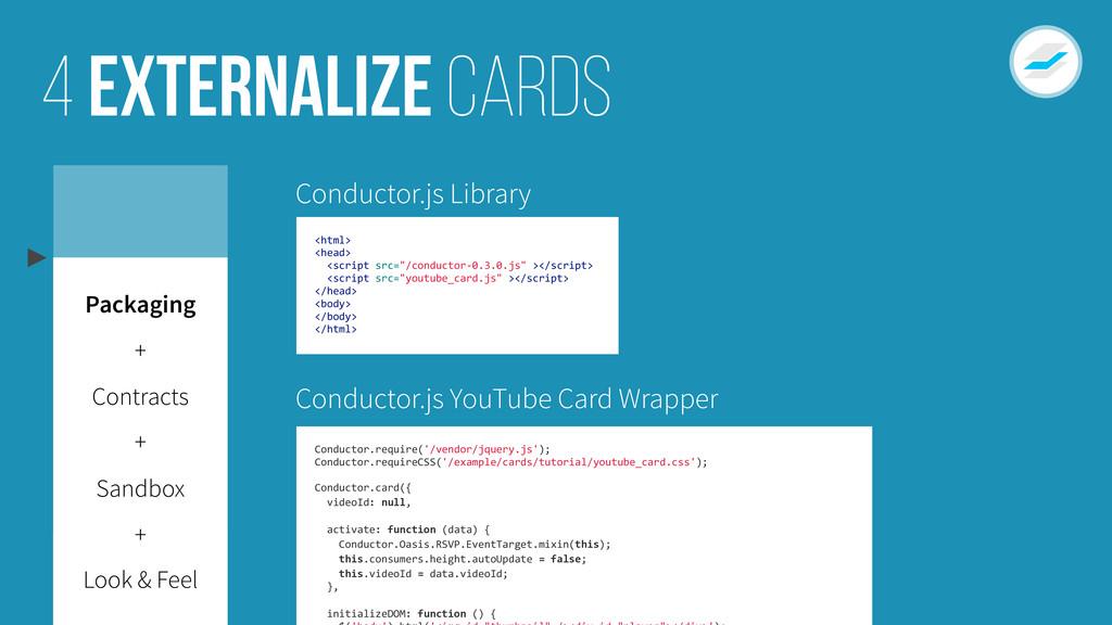 Externalize cards 4 Look & Feel Sandbox Contrac...