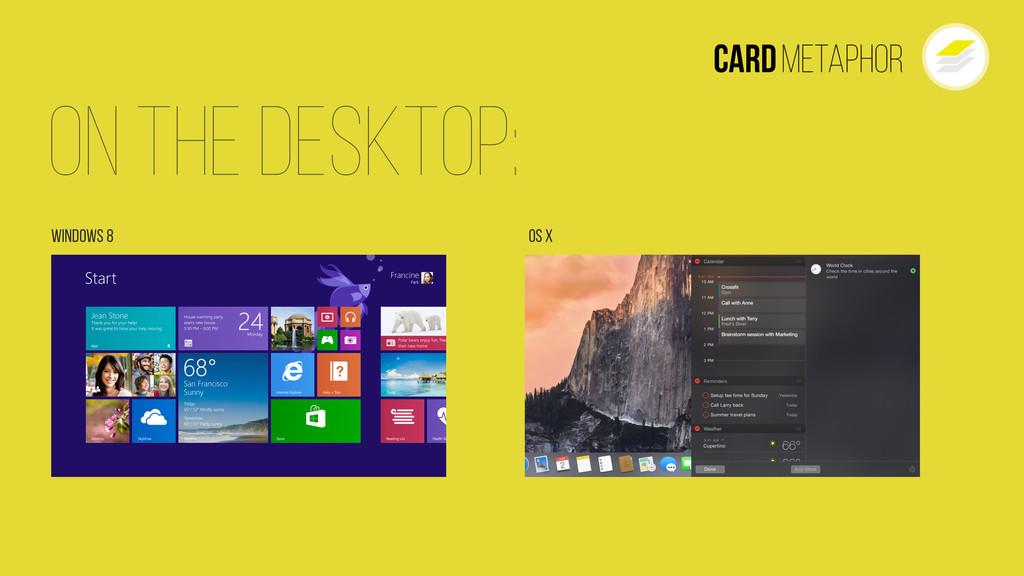 On The Desktop: Windows 8 Os X Cardmetaphor