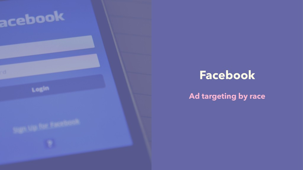 Facebook Ad targeting by race