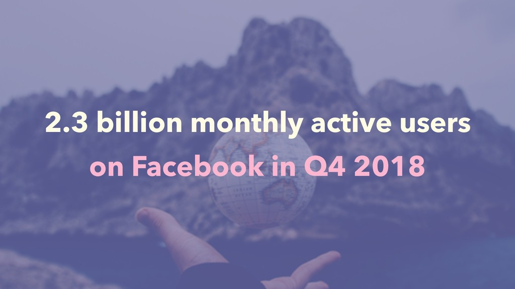 2.3 billion monthly active users on Facebook in...